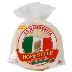 La Banderita Homestyle Soft Taco Flour Tortillas (50.8oz)