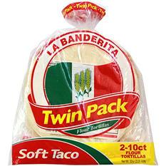 """La Banderita 8"""" Soft Taco Flour Tortillas, Twin Pack (20 ct..)"""
