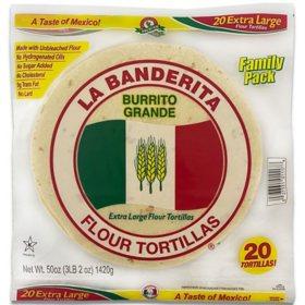 """La Banderita 10"""" Burrito Flour Tortillas (25 oz./2 pk.)"""