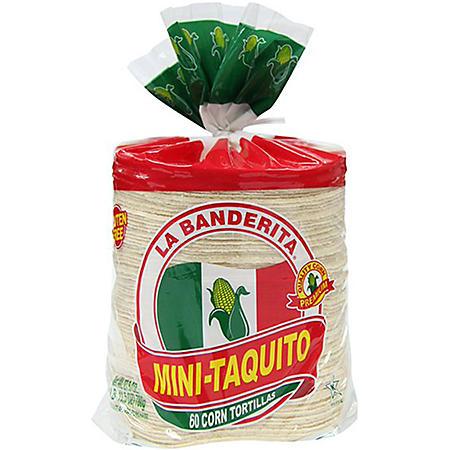 La Banderita Mini Taquito White Corn Tortillas (60 ct.)