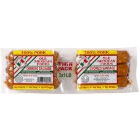 La Banderita Chorizo Sausage (Twin Pack, 2 x 1 lb.)