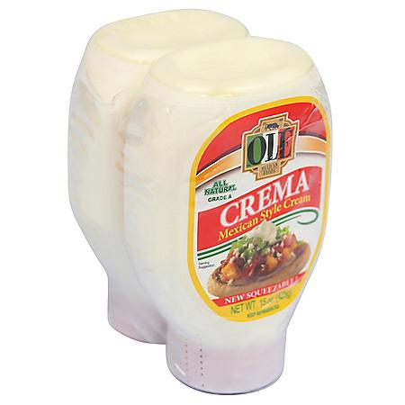 Ole Squeezable Mexican Crema (15 oz., 2 pk.)