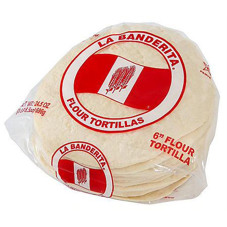 La Banderita Flour Tortillas (6in, 24ct)