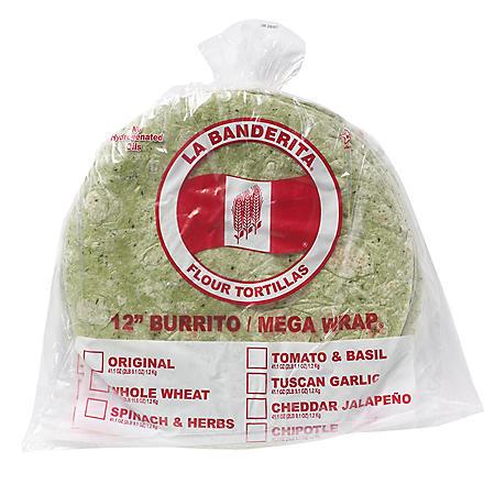La Banderita Spinach & Herb (12in, 24ct)