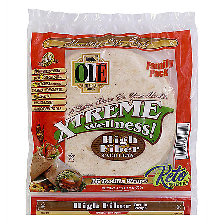 Xtreme Wellness High Fiber Low Carb Tortilla Wraps (12.7oz / 2pk)