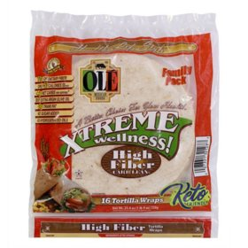 Xtreme Wellness High Fiber Low Carb Tortilla Wraps (25.4 oz., 16 ct.)
