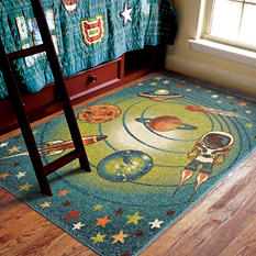 Spacewalk Blue Area Rug