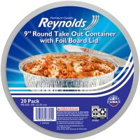 """Reynolds 9"""" Round Foil Take Out Containers with Lids (20 ct.)"""