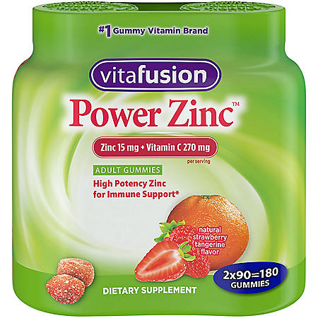 Vitafusion Power Zinc Gummy Vitamin (180 ct.)