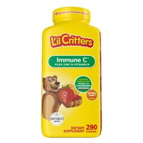 L'il Critter Kids' Immune C Plus Zinc and Vitamin D, (290 ct.)
