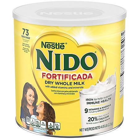 Nestle NIDO Fortificada Whole Milk Powder (4.85 lbs.)