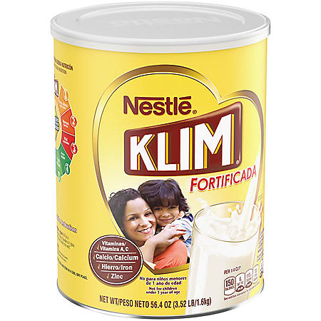 Nestle KLIM Fortificada Dry Whole Milk Powder (3.52 lb. Canister)
