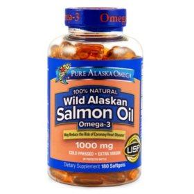 Wild Alaskan Salmon Oil Softgels (180 ct.)