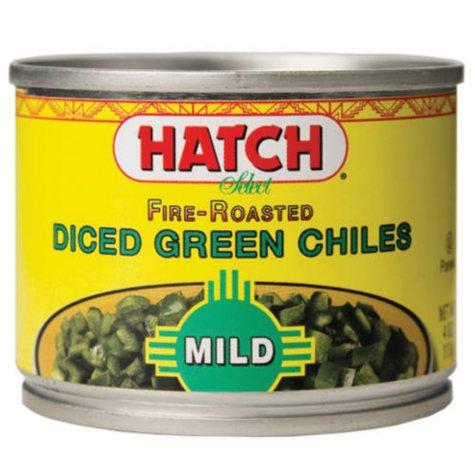 Hatch Mild Diced Green Chiles - 6/4oz