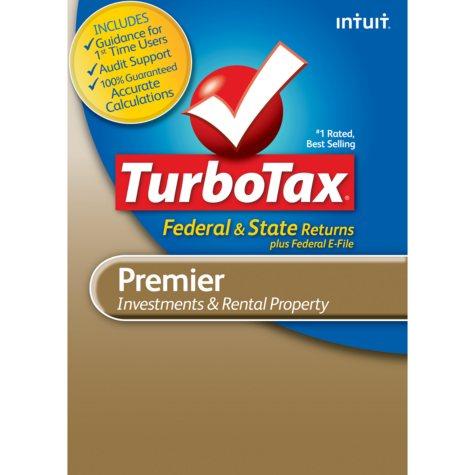 TurboTax Premier Fed + E-File + State 2012