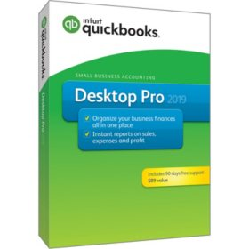 QuickBooks Desktop Pro 2019 with 90 Days Free Support (PC Disc)