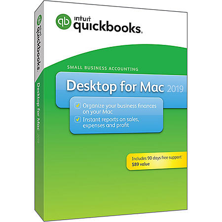 QuickBooks Desktop for Mac 2019 with 90 Days Free Support (PC Disc