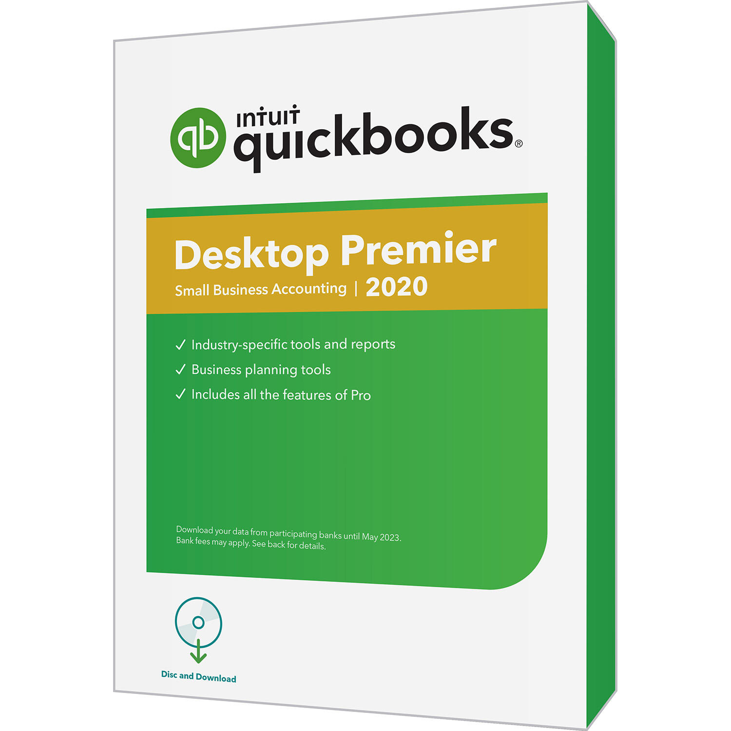 QuickBooks Desktop Premier 2020 PC Disc