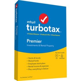 TurboTax Premier 2019 Fed + Efile + State (PC/MAC Disc)