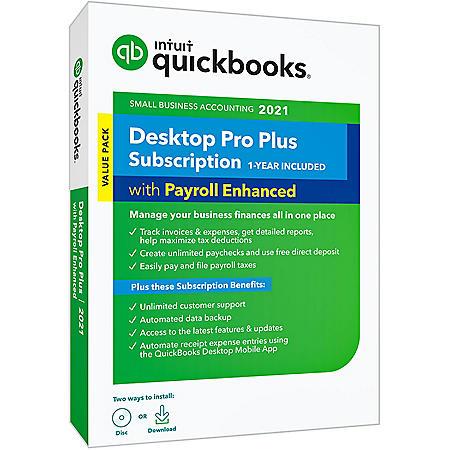 QuickBooks Desktop Pro Plus 2021 with Enhanced Payroll
