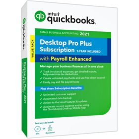 QuickBooks Desktop Pro Plus 2021 with Enhanced Payroll