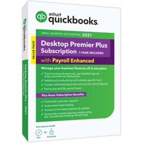 QuickBooks Desktop Premier Plus 2021 with Enhanced Payroll
