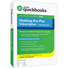 QuickBooks Desktop Pro Plus 2021 15-Month Subscription