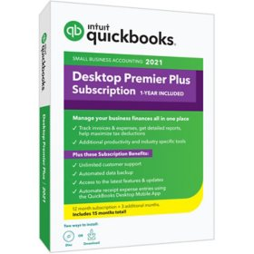 QuickBooks Desktop Premier Plus 2021 15-Month Subscription