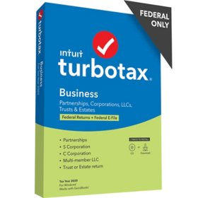 TurboTax Business 2020 Fed + Efile (PC Disc)