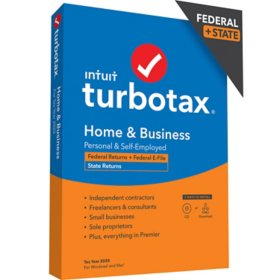 TurboTax Home and Business 2020 Fed+Efile+State (PC/MAC Disc)
