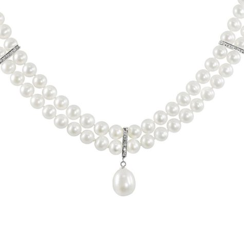 Two-Strand Freshwater Pearl Necklace with Enhancer