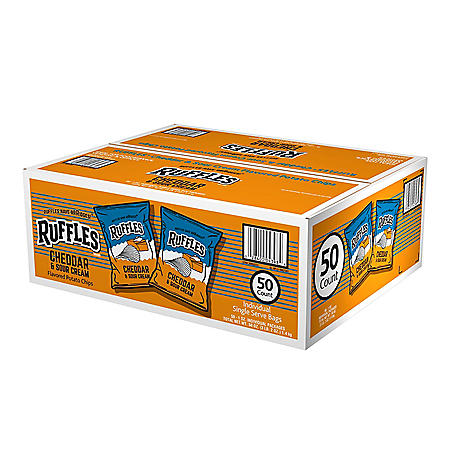 Ruffles Cheddar & Sour Cream Potato Chips (1 oz., 50 ct.)