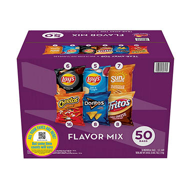 Frito-Lay Flavor Mix Chips and Snacks Variety Pack (50 ct.)