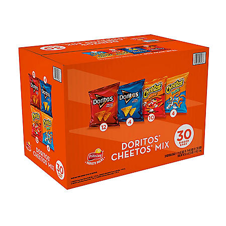 Doritos and Cheetos Mix Snacks Variety Pack (30 pk.)