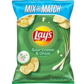 Lay's Sour Cream and Onion Potato Chips (15.5oz)