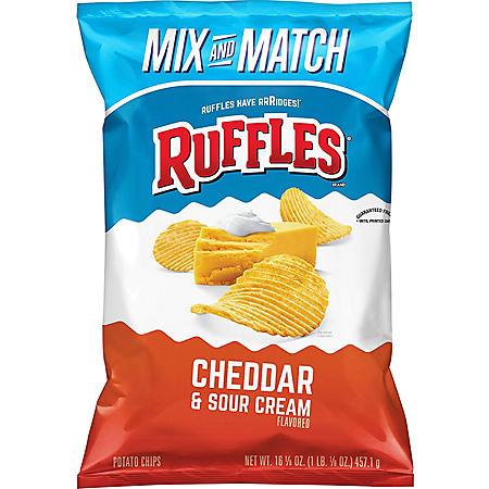Ruffles Cheddar and Sour Cream Potato Chips (16.125 oz.)