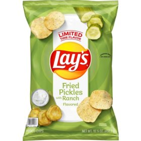 Lay's Fried Pickles with Ranch Flavored Potato Chips (15.25 oz.)
