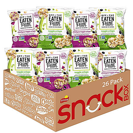Off The Eaten Path Veggie Crisps Mix 2 Flavor Variety Pack (1.25 oz., 26 Ct.)