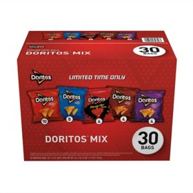 Doritos Mix Variety Pack Tortilla Chips (52.5oz., 30ct.)