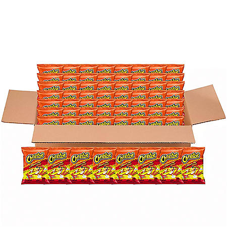 Cheetos Flamin' Hot Crunchy Cheese Snacks (2 oz., 64 ct.)