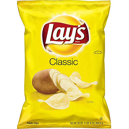 Lay's Classic Potato Chips (24 oz )
