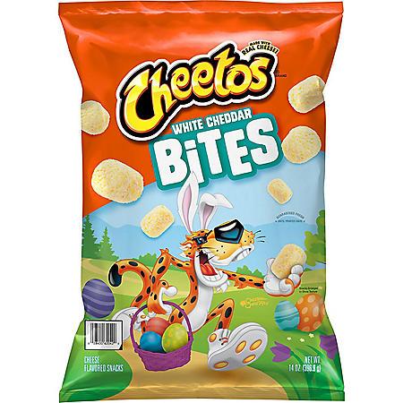 Cheetos White Cheddar Bites Cheese Flavored Snacks (14 oz.)