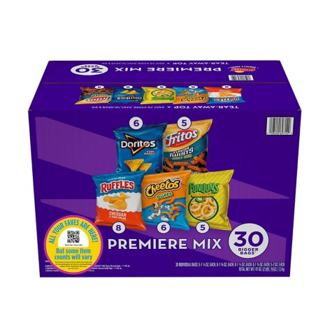 Frito-Lay Premiere Chips and Snacks Variety Pack (30 ct.)