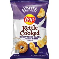 Lay's Kettle Cooked Potato Chips, Everything Bagel with Cream Cheese (13.58oz)