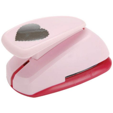 Clever Lever Mega Craft Punch-Scallop Heart