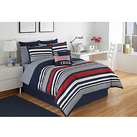 IZOD Varsity Stripe Comforter Set (Assorted Sizes)
