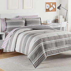 IZOD Caldwell Comforter Set, Frost Grey