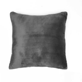 Vellux Plush/Microfiber Grey Square Decorative Pillow