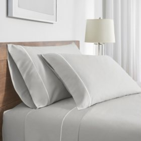 FlatIron Hotel Satin Stitch Sheet Sets (Assorted Sizes and Colors)