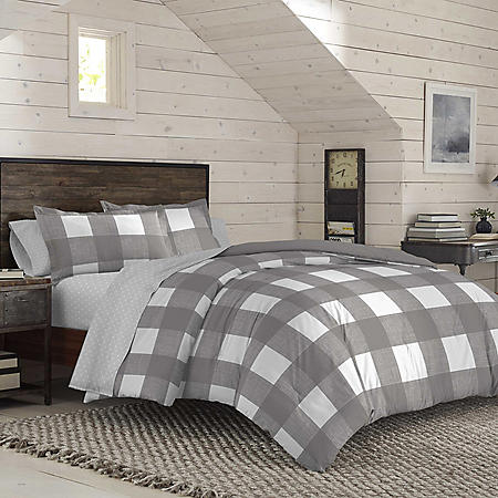 IZOD Buffalo Grey Plaid Comforter Set (Assorted Colors and Sizes)
